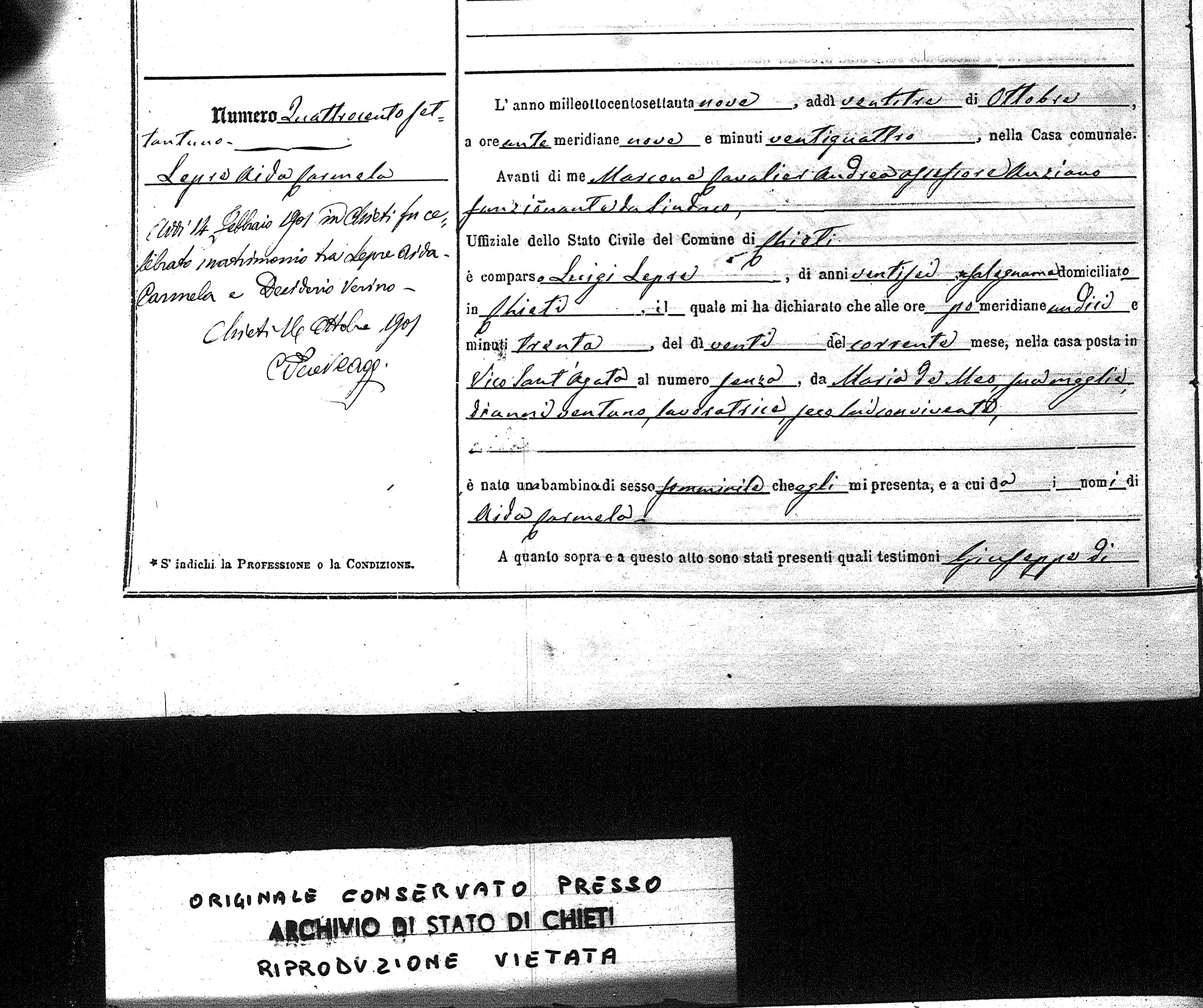 Pascali family history birth certificate 1betcityfo Gallery